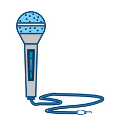 Modern microphone technology vector
