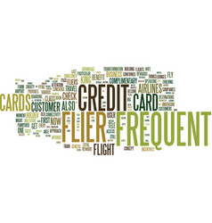 Frequent flier credit cards fly high and reap vector