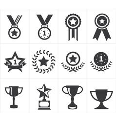Icon trophy award vector