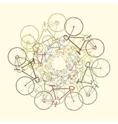 Colored bikes vector