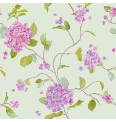 Vintage Floral Lilac Background - seamless pattern vector image