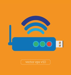 Modem hardware connection icon vector