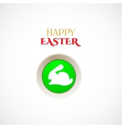 Happy easter button vector