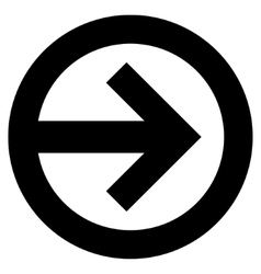 Direction right flat icon vector