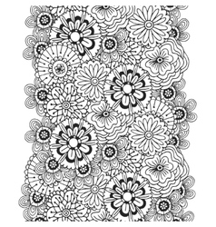 Pattern with abstract ornament of flowers vector