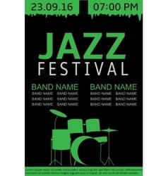Jazz festival banner vector