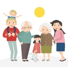 Happy family portrait family isolated on white vector