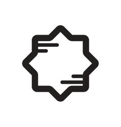Black icon on white background ramadan vector