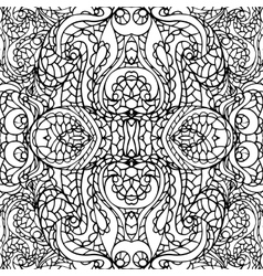 Abstract symmetry swirl ethnic seamless pattern vector image vector image