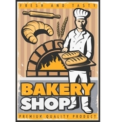 Bakery shop poster vector
