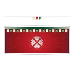 Belarusian card with national pattern and ribbons vector image vector image