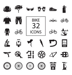 bike 32 icons vector image