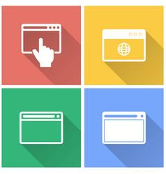 Browser - icon vector