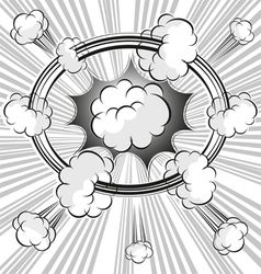 burst vector image vector image