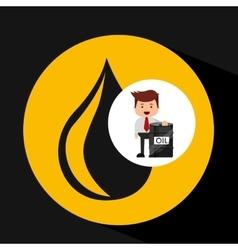 Businessman oil industry barrel icon vector