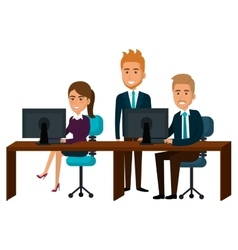 Bussiness people working icon vector