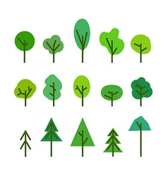 Different tree silhouettes clip-art vector