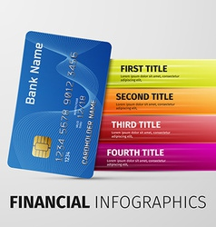 Financial infographics vector
