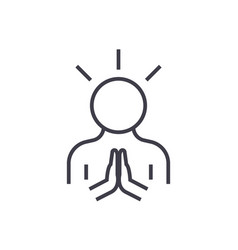 harmonypeace man line icon sign vector image