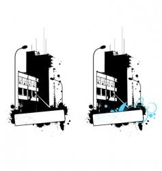 high builging vector image