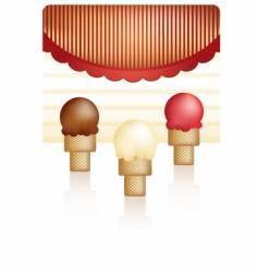 ice cream cones vector image vector image
