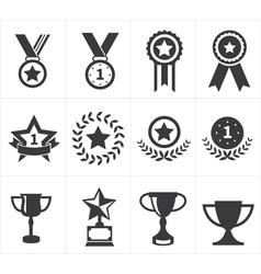 Icon trophy award vector