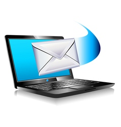 Internet laptop mail sms vector