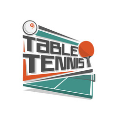 logo for table tennis vector image vector image