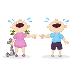 offended boy and girl vector image vector image