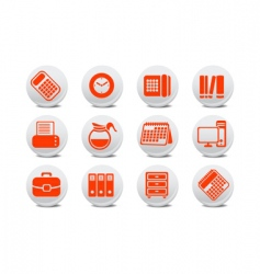 office equipment buttons vector image vector image