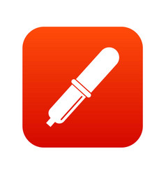 Pipette icon digital red vector