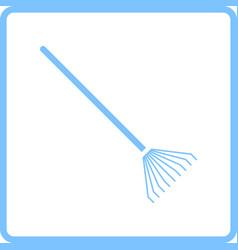 rake icon vector image vector image
