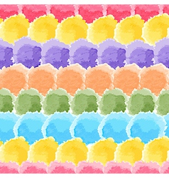 Seamless rainbow watercolor background vector image