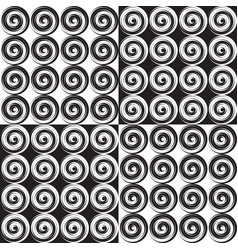 set of four seamless monochrome pattern vector image vector image