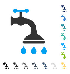 Shower tap icon vector