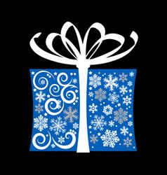 stylized gift box vector image vector image