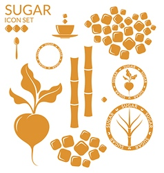 Sugar set vector