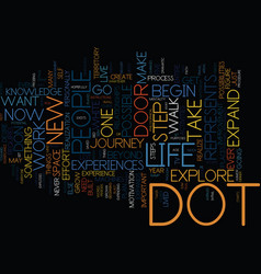 The dot text background word cloud concept vector