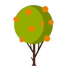 Tree with fruit icon flat style vector image vector image