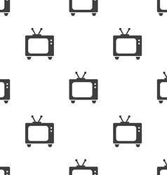 tv seamless pattern vector image