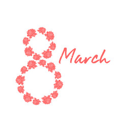 womens day 8 march vector image