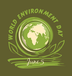 World environment day logo design 5 june vector