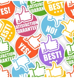 Approval paper stickers seamless background vector
