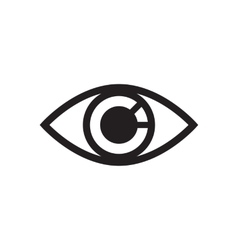 Simple eye icon isolated on white vector