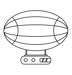 Aerostat airship icon outline style vector
