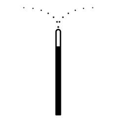 Magic wand the black color icon vector