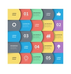 Modern abstract squares business infographics vector
