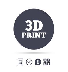 3d print sign icon 3d printing symbol vector