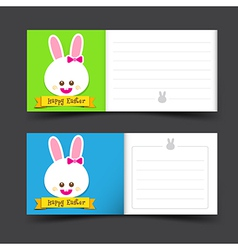 Happy easter tag banner blank template vector