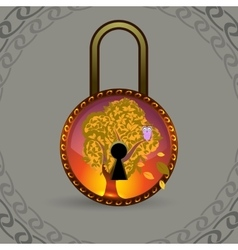 Magic decorative lock vector